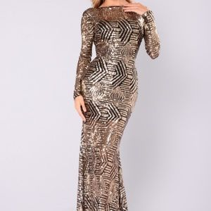 Fashion Nova Emely Sequin Dress